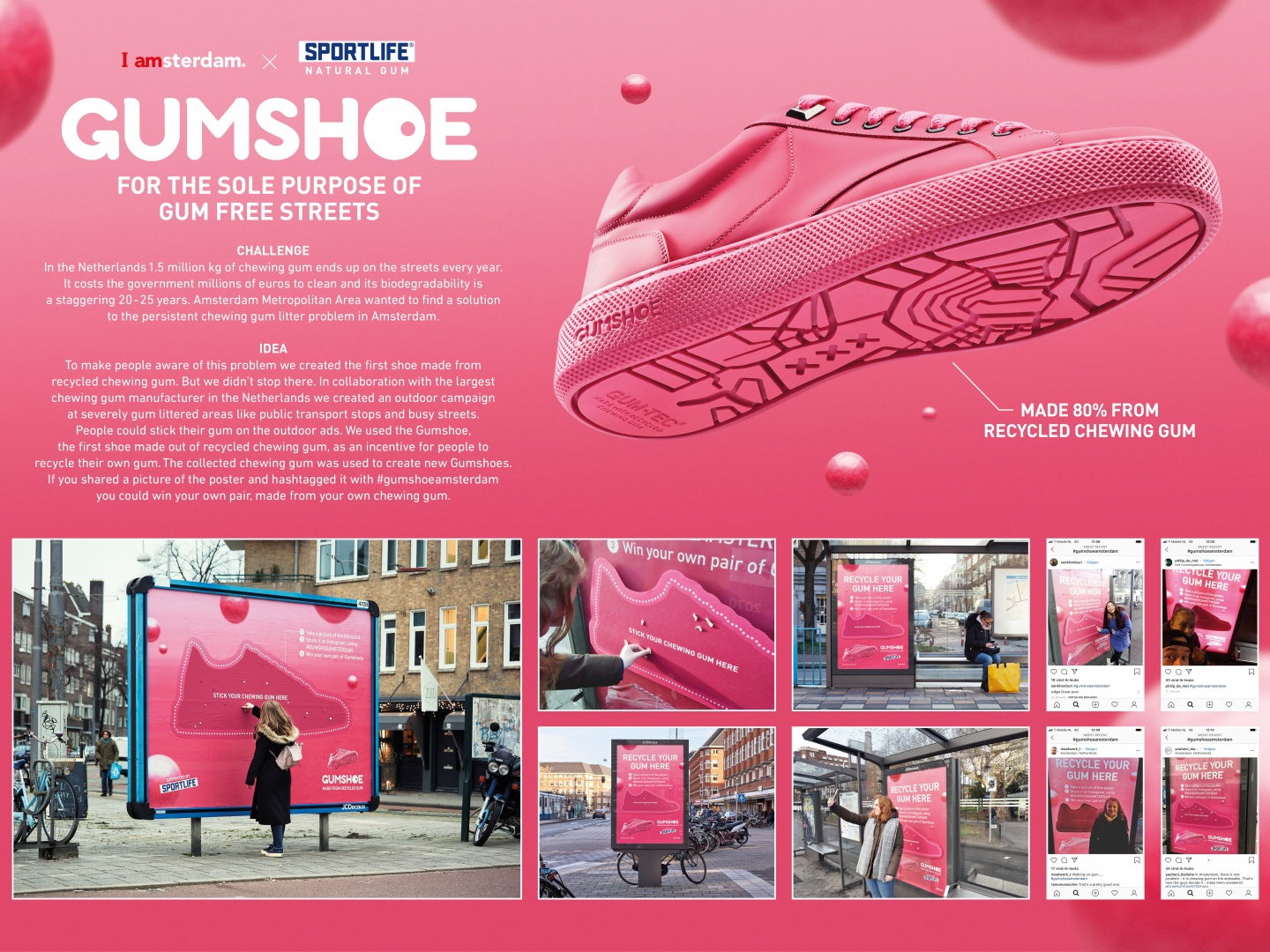 The first shoe made from recycled chewing gum Thumbnail