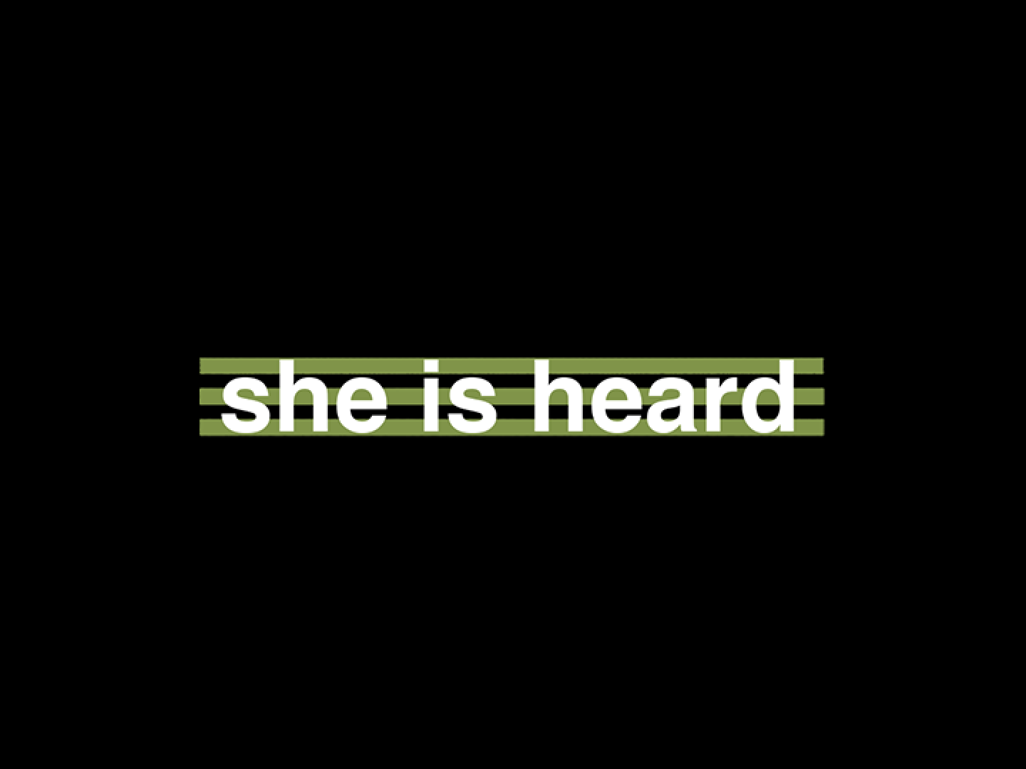 she is heard Thumbnail