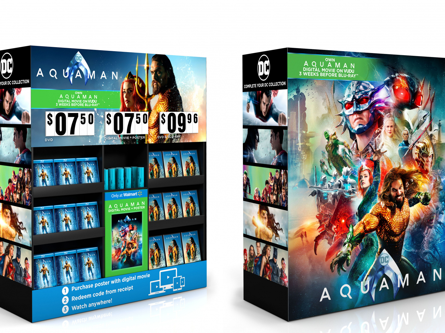 Aquaman Home Entertainment Walmart Display Poster/Digital Cube Thumbnail