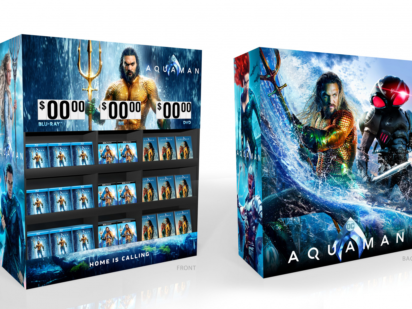 Image for Aquaman Home Entertainment Walmart Display Home Video Cube