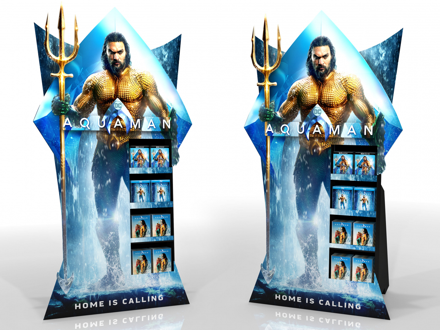 Aquaman Home Entertainment Shoppable Point of Purchase Standee Thumbnail
