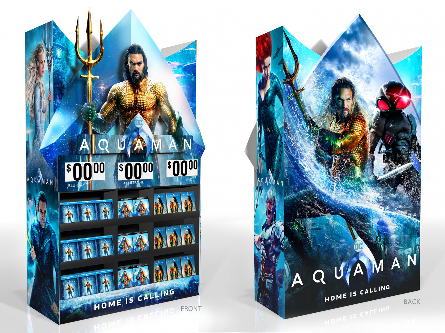 Aquaman Home Entertainment Walmart Display Mini Wow Cube Thumbnail