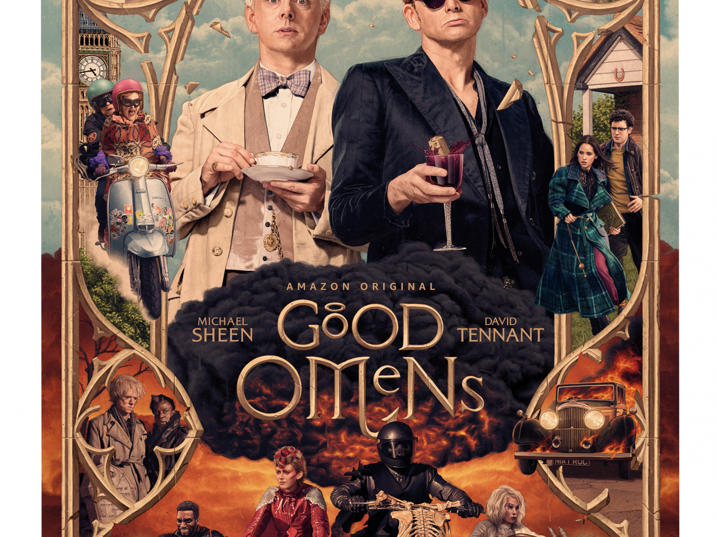 Good Omens SXSW Illustrated Poster Thumbnail