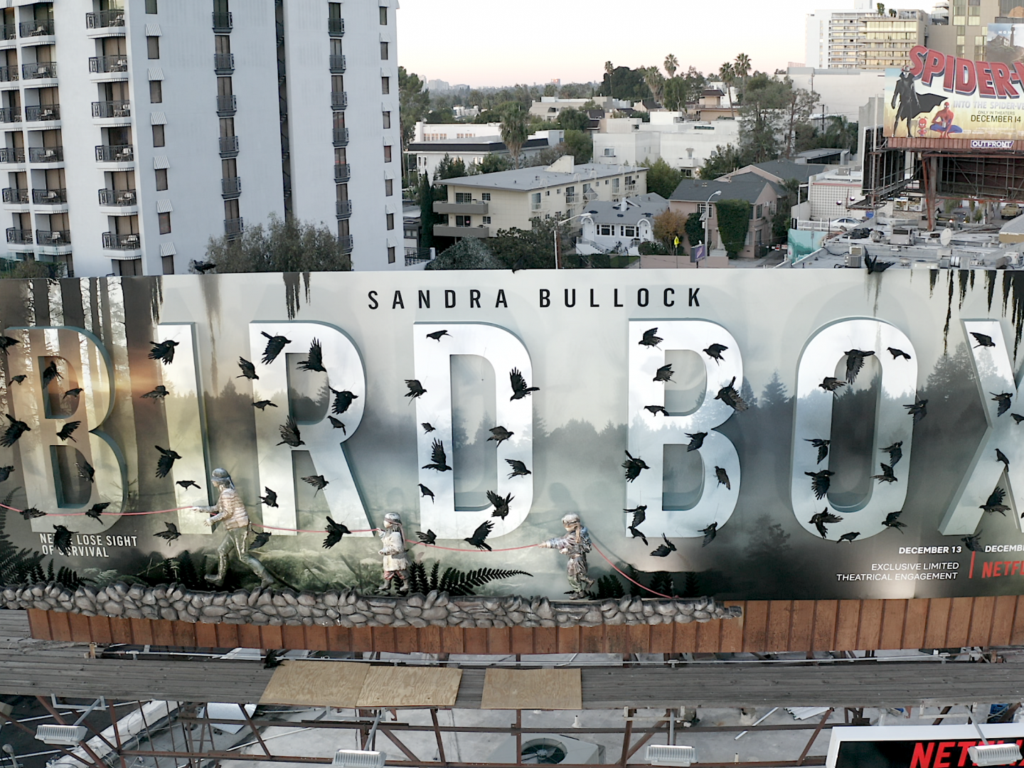 Netflix Bird Box 3D Billboard  Thumbnail