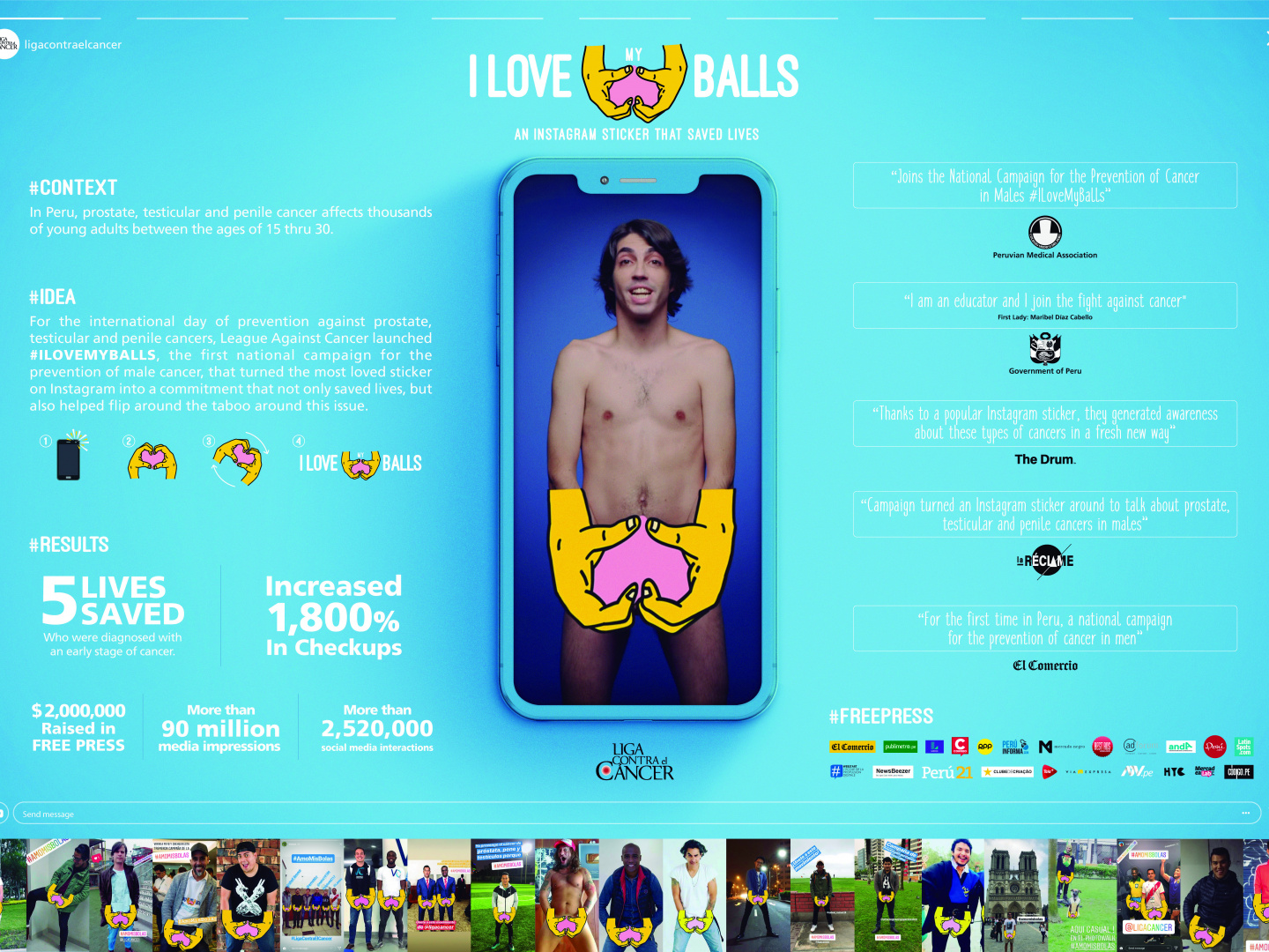 I Love My Balls - An instagram sticker that saved lives.  Thumbnail