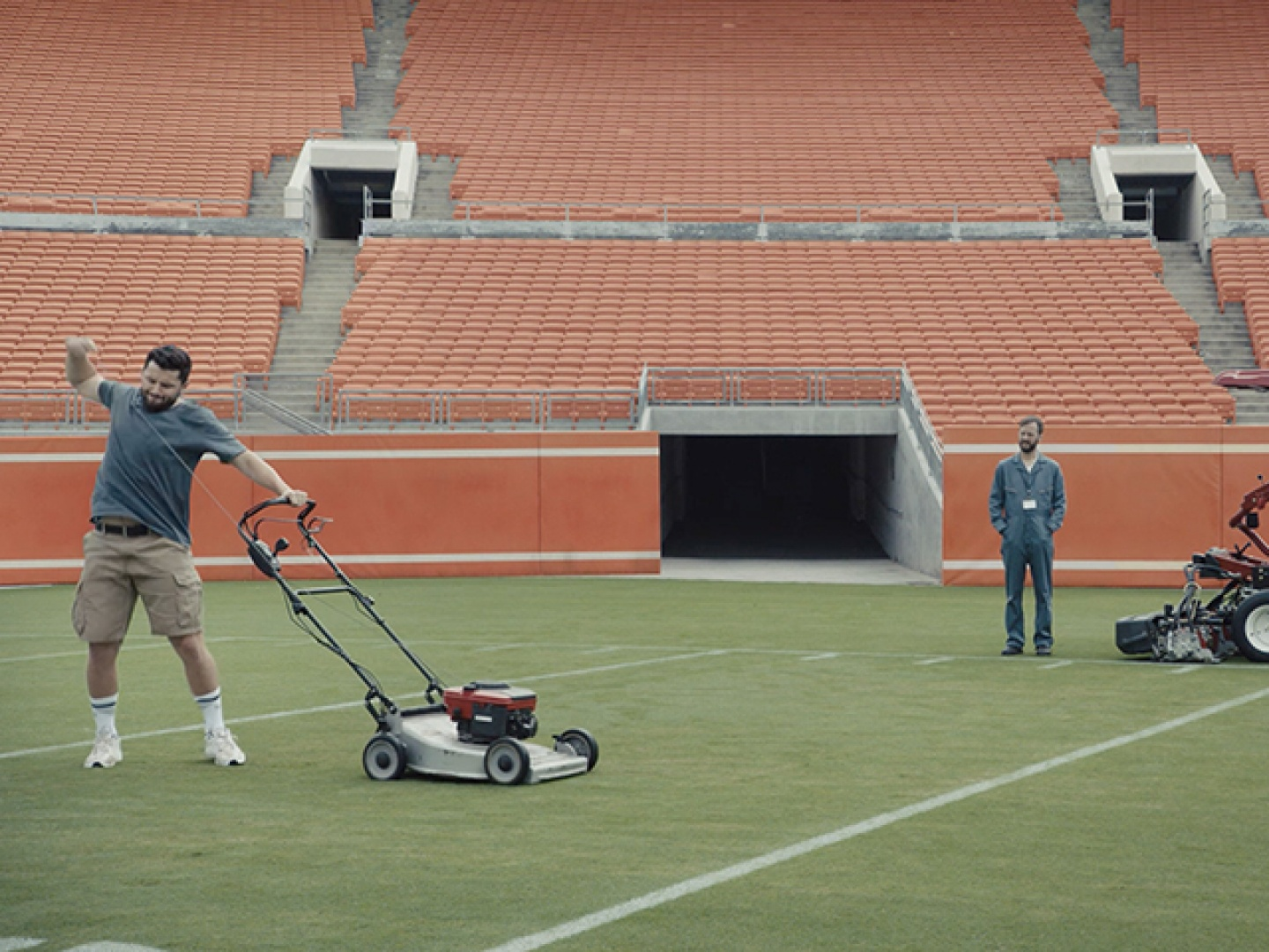 Image for Baker Mows His Lawn