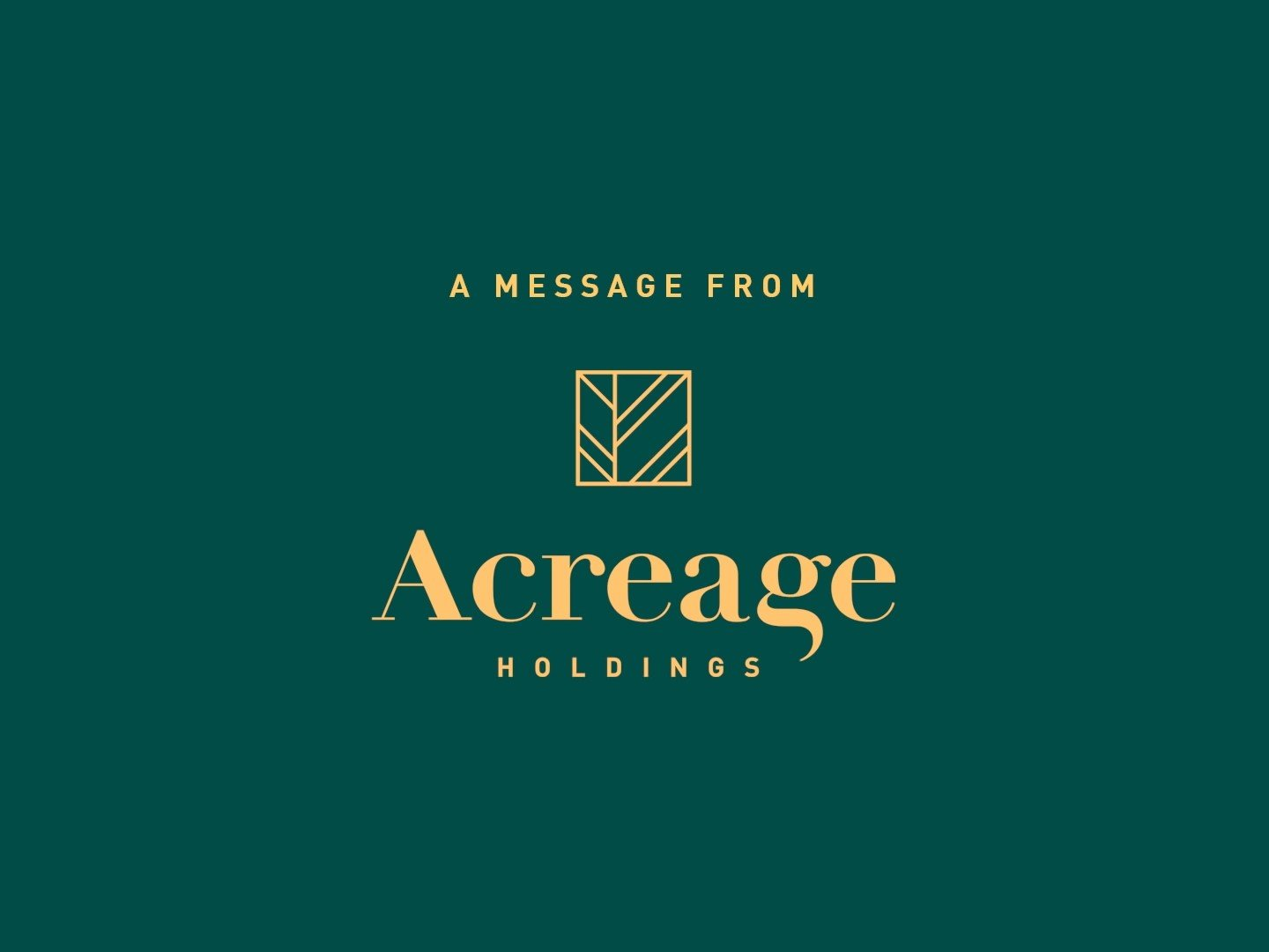 """Acreage Holdings: """"The Time Is Now"""" Super Bowl PSA"""
