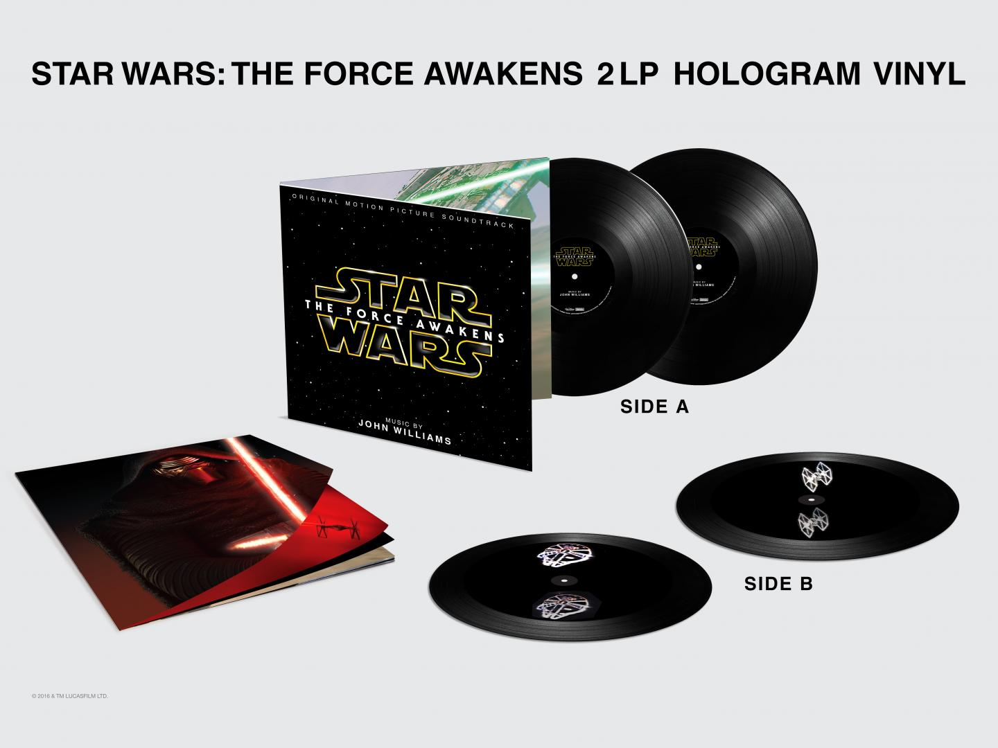Star Wars The Force Awakens 3D Hologram Vinyl Thumbnail