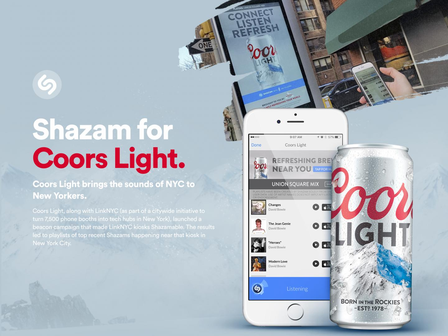 Shazam & Coors Light - LinkNYC Thumbnail