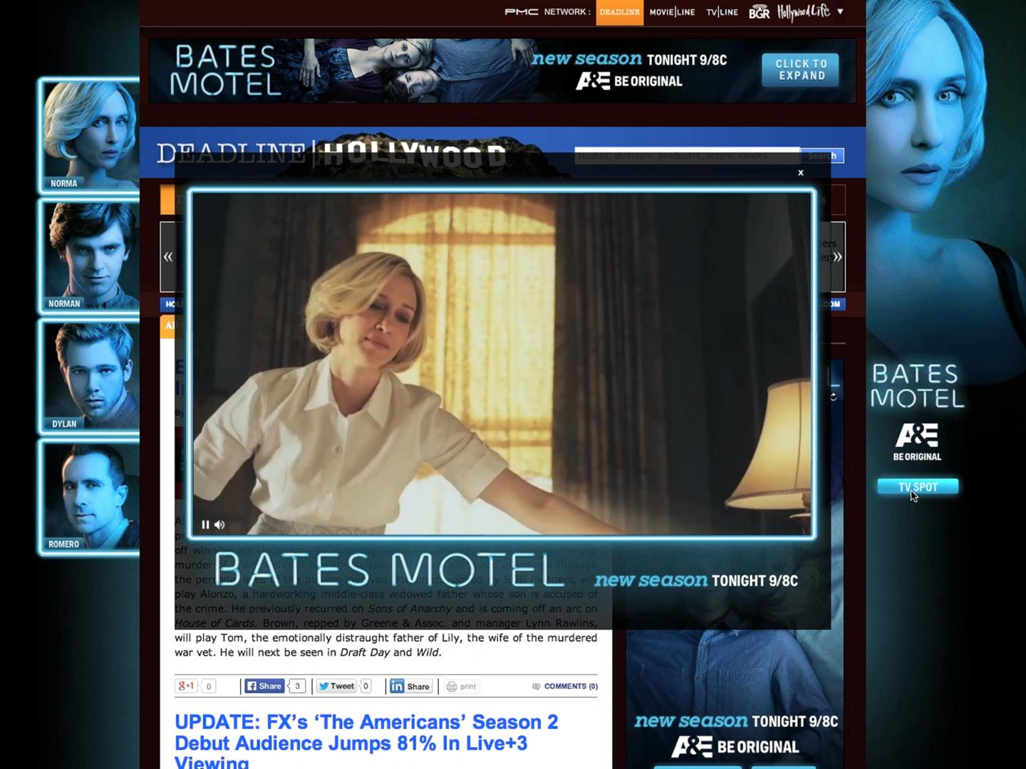 Image for Bates Motel Season 2 Deadline