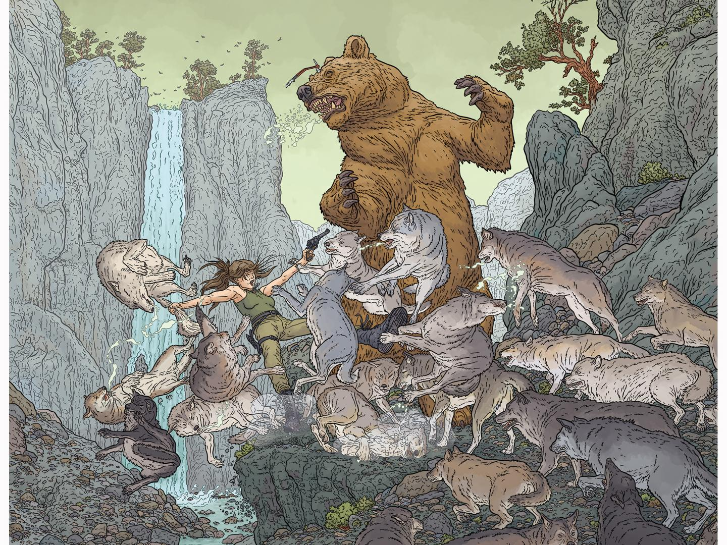 Woman VS. Wild by Geof Darrow Thumbnail