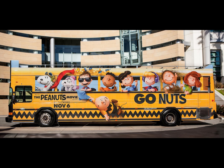 Peanuts School Bus - Bus Wrap Thumbnail