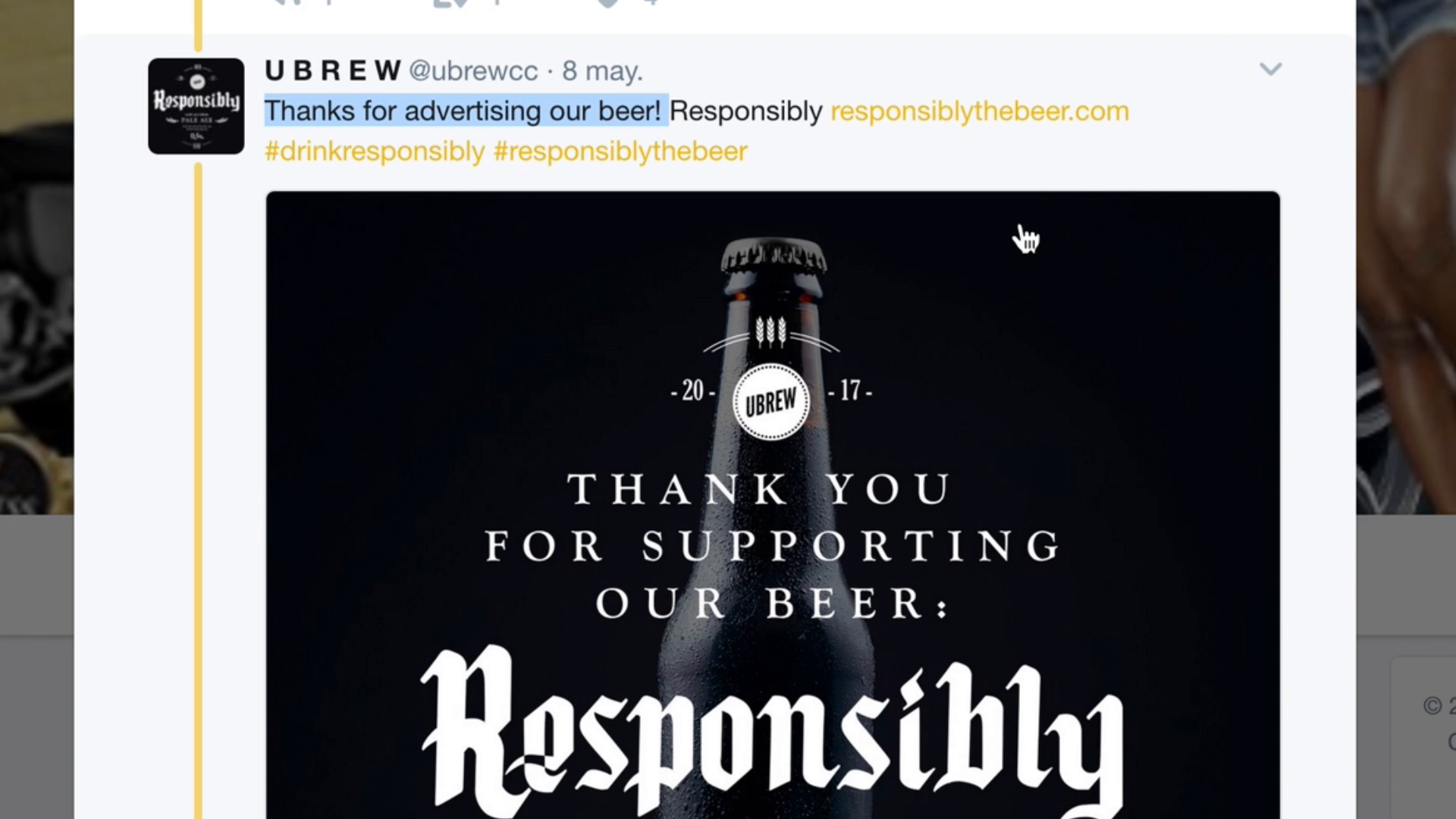 Thumbnail for RESPONSIBLY THE BEER